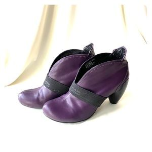 Chic purple ankle bootie